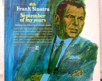 Frank Sinatra Record - September of my Years - Vintage Vinyl LP 1965