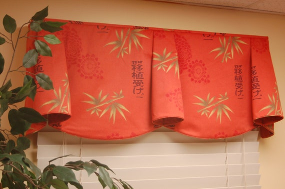 "Custom Window Treatment ANNA Hidden Rod Pocket Valance fits 33""- 46"" window, Made to order using customer's own fabrics, My LABOR and lining"
