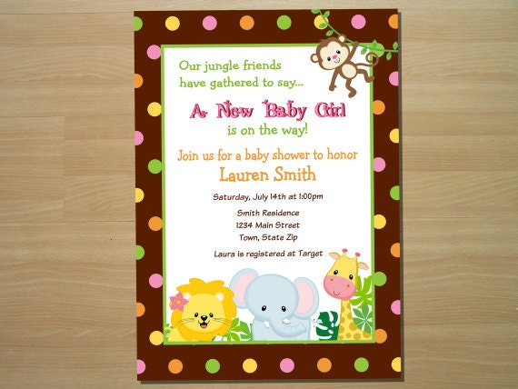Etsy Baby Shower Invite with luxury invitations design