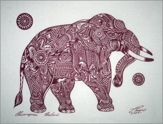 red traditional elephant - photo #9