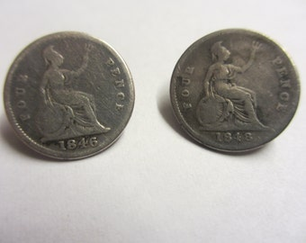 Antique Silver Four penny Buttons