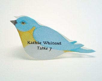 Bird Place Card - Blue Bird - Unique - Wedding Place Card - Event Escort Card - Customized - Bluebird