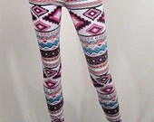 Colorful Tribal Print Leggings