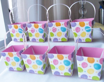 CLEARANCE - 16 Colourful birthday/baby shower favour boxes - birthday goody boxes - party favour boxes - candy treat boxes - craft supplies