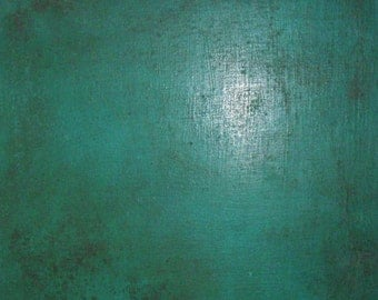 "Abstract Painting ""Baby Vintage Teal"" - Original Art from Ease the Soul Artworks by Jackson P"