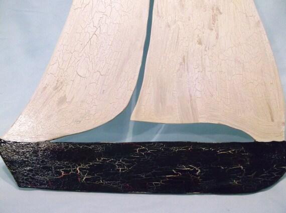 Wood Sailboat Wall Decor : Beach decor boats wooden sailboat wall art