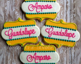 Personalized name/ Thank you cookies