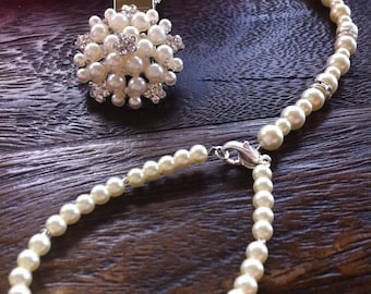 Ivory pearl pendant Baby Boutique 4-in-1 Beaded Pacifier Holder