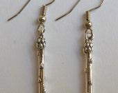 Sterling Silver Single Asparagus Spear Earrings