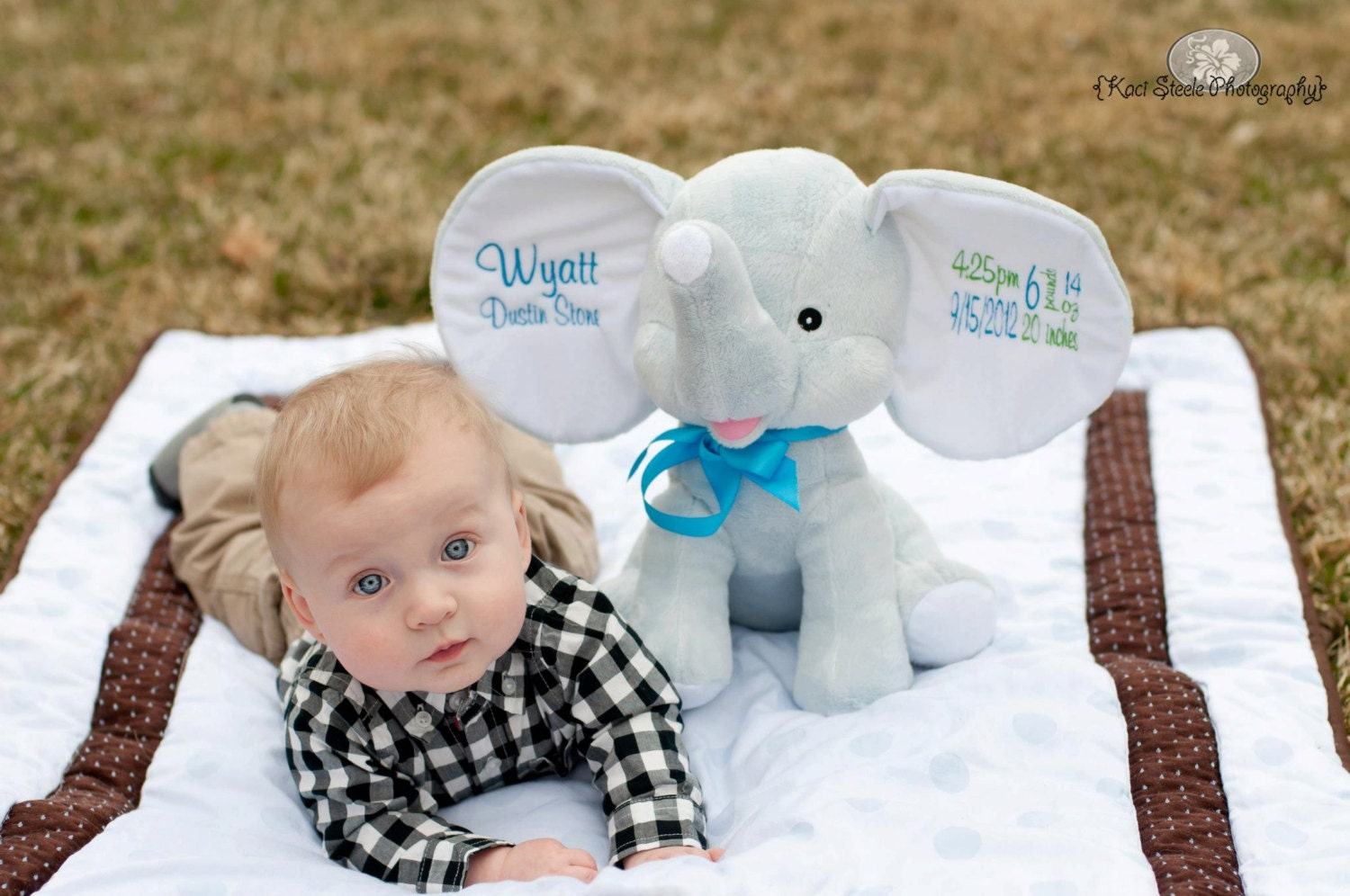 Personalized gifts for kids babies etsy personalized baby gift baby cubbies dumble elephant birth announcement stuffed animal keepsake negle Gallery