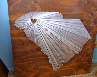 40x40 - State String Art - South Carolina - Wall Hanging - Home Decor