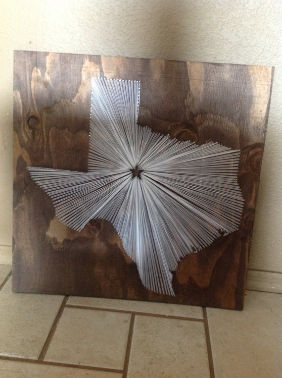 Wall Decor 20x20 : State string art texas wall hanging home decor by nidify