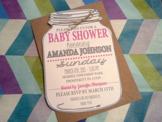 mason jar baby shower invitation mason jar invitation cut out
