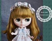 Mori Girl Blue Floral Lace Dress Set for Blythe/ Blythe Outfit