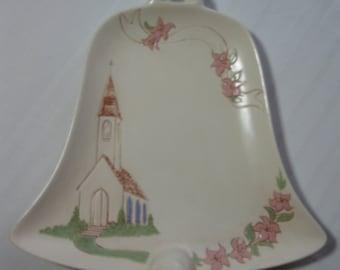 Vintage Easter Bell Serving Plate