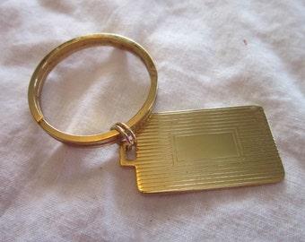 Vintage Gold Tone Key Chain No Monogram