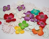 38 pcs Scrapbook Flower Embellishments