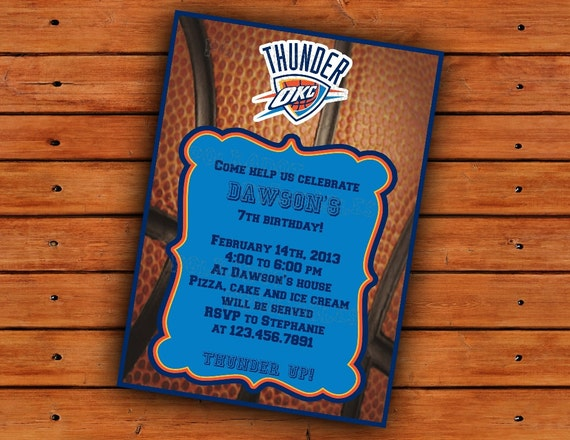Kevin Durant Oklahoma Thunder Birthday Invitations  ~ 152910_Birthday Party Ideas Okc