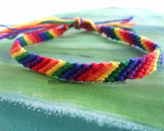 Rainbow Friendship Bracelet (thin)