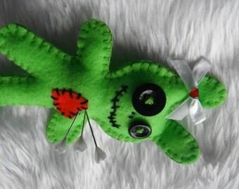 Zombie bunny love - pin cushion
