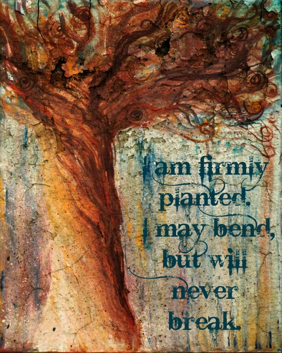 I am firmly planted. I may bend but will never break by Ellen Brenneman