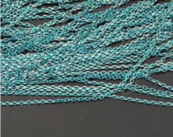 5 meters 1.5 mm jewelry accessory colorful chain light blue metal chain necklace