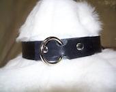 Black BDSM O Ring Collar