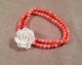 Pink & White Blossom Bracelet