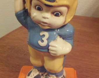 Cute Ceramic Football Player