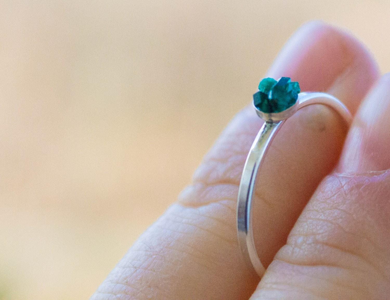 Raw Emerald Ring Etsy
