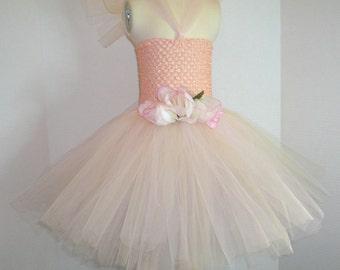 Peachy Rose Tutu Dress