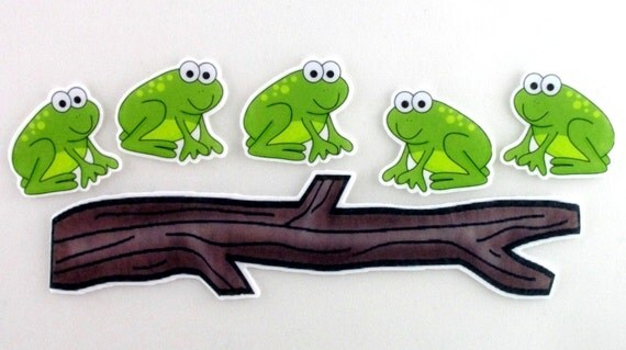song 5 frogs on a log