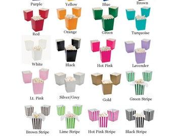 30 Mini Popcorn Boxes treat Favors You Pick Your Colors