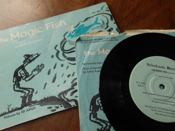 Vintage the magic fish children 39 s book and record set for The magic fish