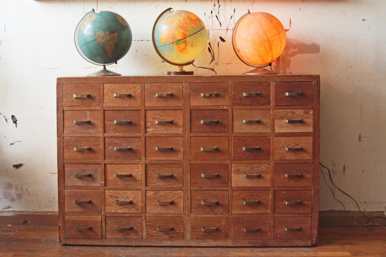 36 Drawer Wood Storage Unit Dresser