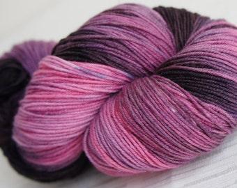 Hand Painted Yarn, Hand Dyed Yarn 492 yards, Sock Weight