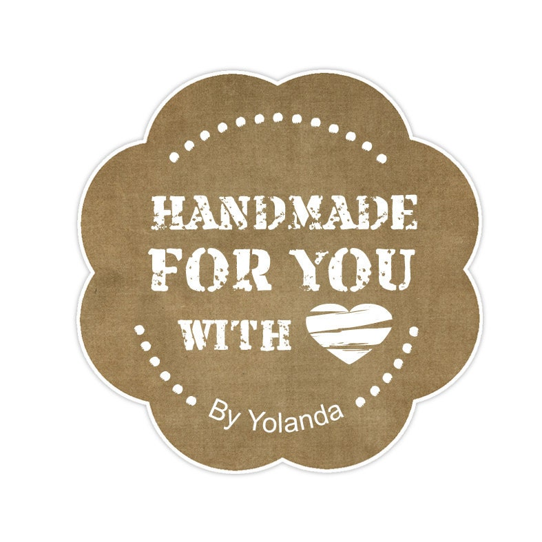 Handmade with love Tag Printable for gifts Tag Made by ByYolanda