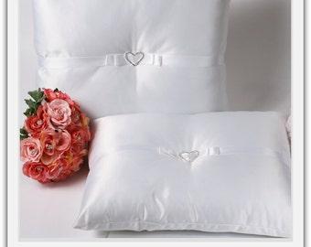 A set of Wedding Kneeling Pillow : Heart Rhinestone Buckle