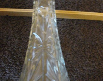 "Vintage Hoosier Glass Clear Glass Bud Vase 6"" CL10-27"