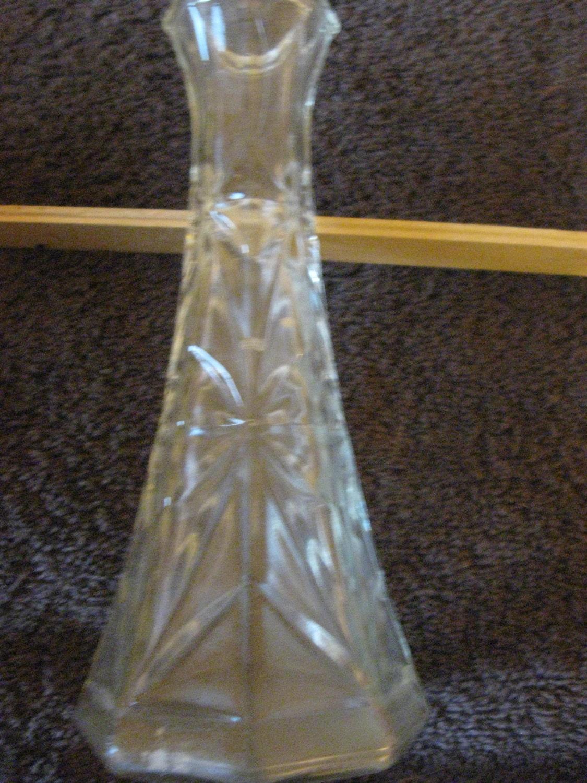 Vintage Hoosier Glass Clear Glass Bud Vase 6 Cl10 27