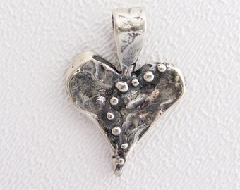 ONE Live, Love, Laugh Heart Pendant in Sterling Silver