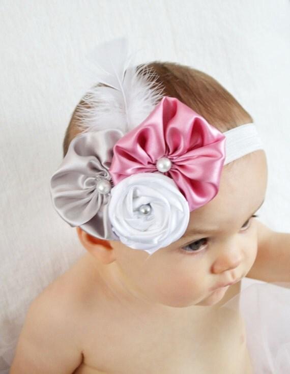 baby headbands baby headband pink silver white baby headbands baby headband pink silver white