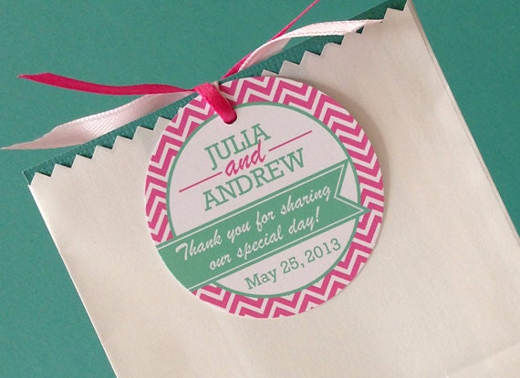 Wedding Favor Tags Messages : Wedding Favor Tag with Thank You Message, PRINTABLE, Custom Colors ...