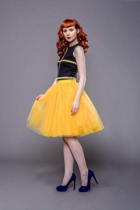 Items Similar To Adult Yellow Tulle Skirt Tutu Petticoat Wedding Custom Made Order On Etsy