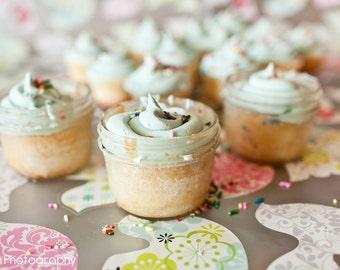 4OZ Mason Jam Jars Wedding, Party, Birthday, Summer BBQ,  Favors, Cupcake servers Set of 100
