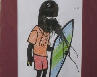 Surf's UP Original Monster Art