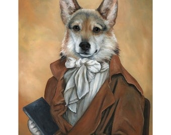 Corgi Prints, Dudley, Pembroke Welsh Corgi Portrait, Animals in Clothes