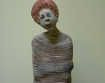 Repentimento: One of a Kind Handmade Stoneware Sculpture