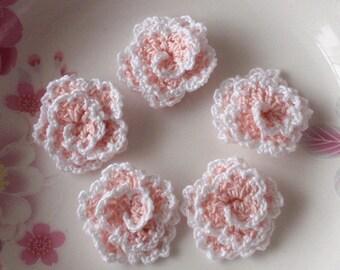 5 Crochet Flowers (Roses) YH-130-02