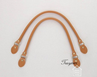1 Pair 22.5 inch Synthetic Leather Purse Straps - Tan Y006